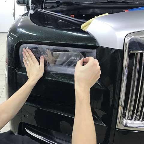 Бронирование фар автомобиля плёнкой по ГОСТ