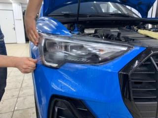 Audi Q3 - бронирование фар полиуретановой плёнкой «SunTek PPF»